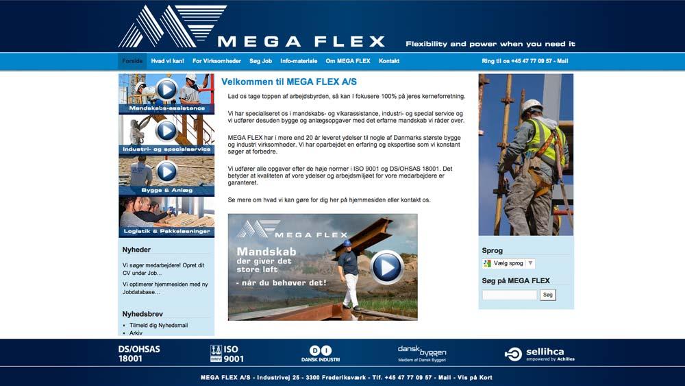billede af hjemmeside eksempel megaflex