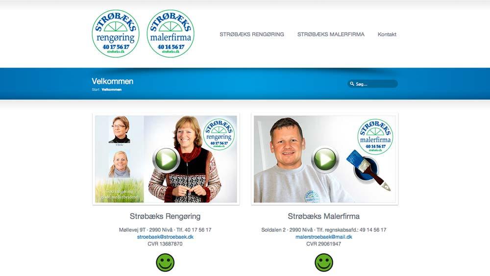 billede af eksempel på hjemmeside strøbæks