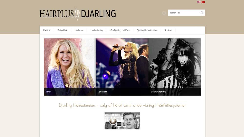 billede af hjemmeside (hairplus by djarling)